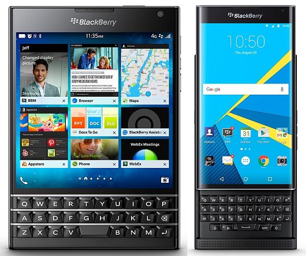 BlackBerry Passport und Priv © blackberry.com / BlackBerry